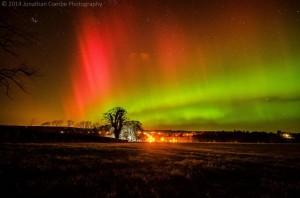 aurora boreal y pleyades
