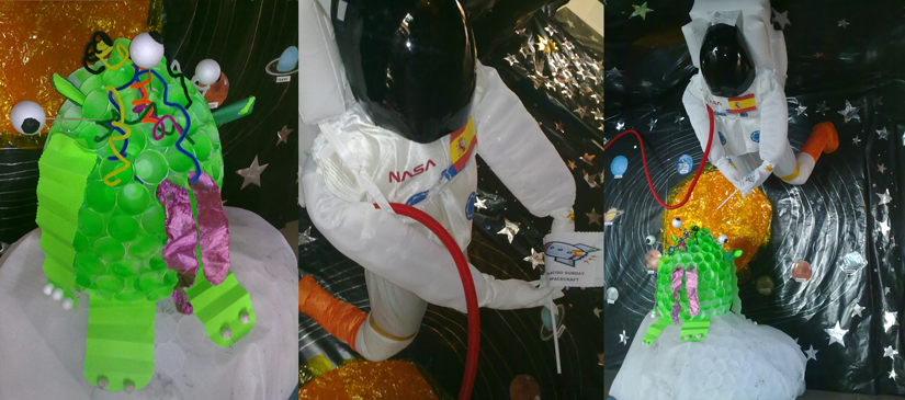 Extraterrestre en la visita del planetario a Madrid