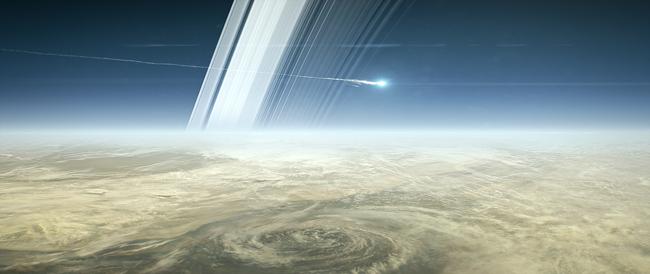 Cassini se estrella contra Saturno