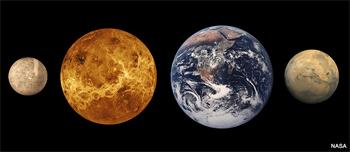 los cuatro planetas interiores son rocosos