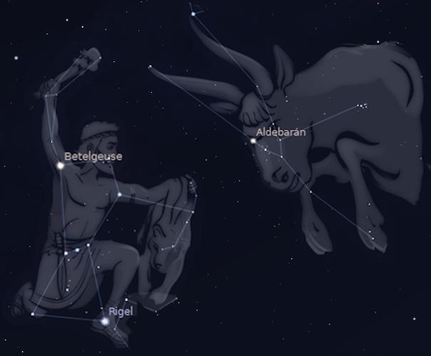 Orión y Tauro